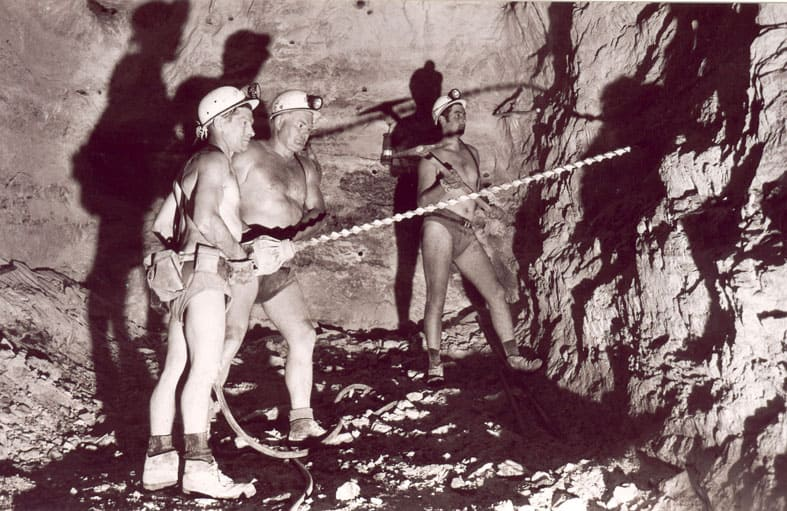Des mineurs du bassin potassique alsacien